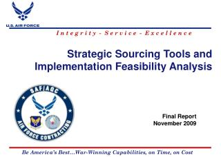 Strategic Sourcing Tools and Implementation Feasibility Analysis