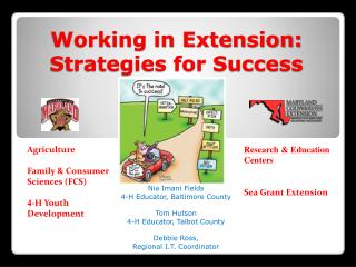 Working in Extension:   Strategies for Success