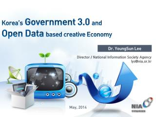 Korea's  Government 3.0  and Open Data  based creative Economy