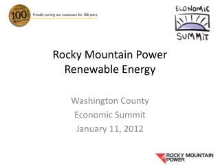 Rocky Mountain Power Renewable Energy