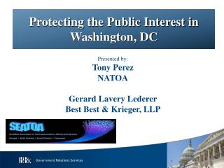 Protecting the Public Interest in Washington, DC