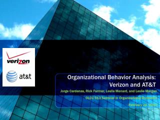 Organizational Behavior Analysis: Verizon and AT&T