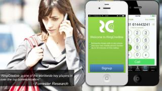 """RingCredible  is one of the  worldwide  key players in over the top communication"" -  Forrester  Research"