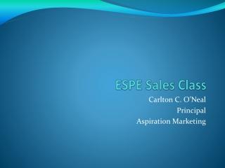 ESPE Sales Class