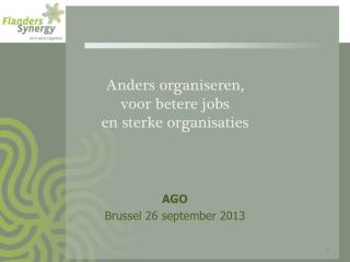 Anders organiseren,  voor betere jobs  en sterke organisaties