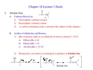 chapter 18 lecture 1 enols