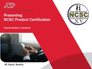 Presenting NCSC Product Certification