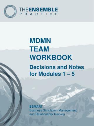 MDMN  TEAM WORKBOOK