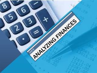 Analyzing Finances