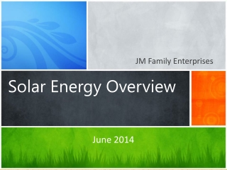 Solar  Energy Overview