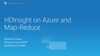 HDInsight  on Azure and Map-Reduce