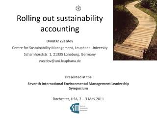 Rolling out sustainability accounting