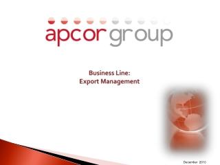 Business Line: Export Management