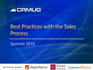 Best Practices with the Sales Process