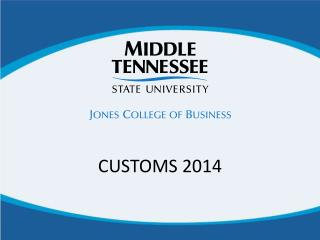 CUSTOMS 2014