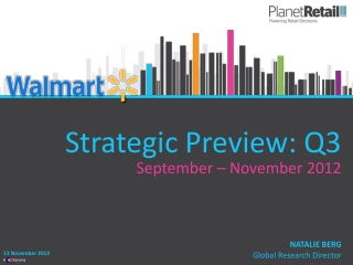 Strategic Preview: Q3