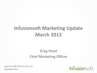 Infusionsoft  Marketing Update March 2012