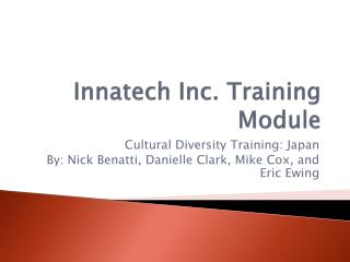 Innatech Inc. Training Module
