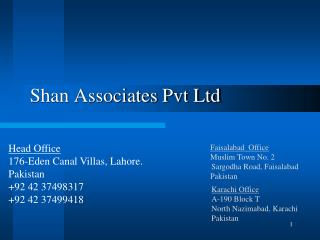 Shan Associates Pvt Ltd
