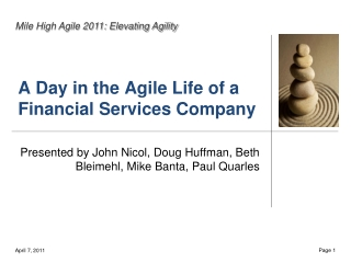 A Day in the Agile Life of a Financial Services Company