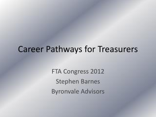 Career Pathways for Treasurers