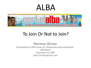 alba     to join or not to join