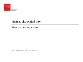 Vienna. The Digital City.