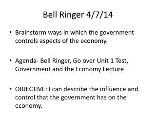 Bell Ringer 4/7/14