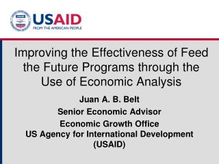 Improving the Effectiveness of Feed the Future Programs through the Use of Economic Analysis