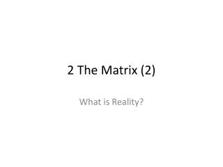 appearance of matrix