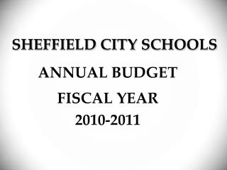 SHEFFIELD CITY SCHOOLS