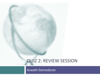 Quiz 2: Review session