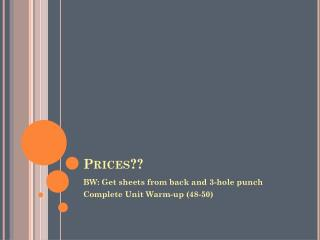 Prices??