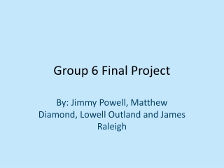 Group 6 Final Project