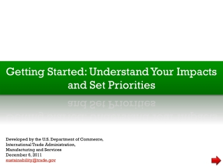 Getting Started: Understand Your Impacts and Set Priorities
