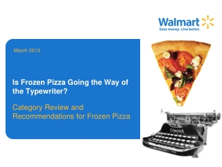 Is Frozen Pizza Going the Way of the Typewriter?