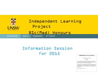Independent Learning Project BSc(Med) Honours