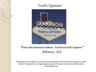 Fred's Uptown