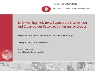 Early-warning Indicators, Supervisory Intervention and Cross-border Resolution of Insurance Groups