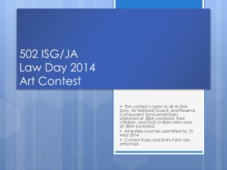 502 ISG/JA  Law Day 2014 Art Contest