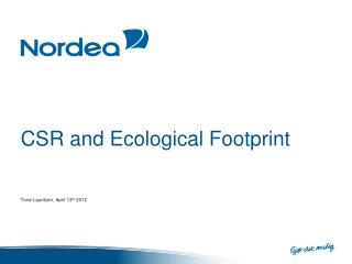 CSR and Ecological Footprint