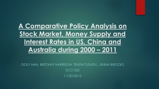 A Comparative Policy Analysis on Stock  Market , Money Supply and Interest Rates in US, China and Australia during 2000