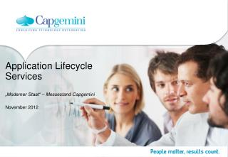 "Application Lifecycle Services ""Moderner Staat"" –  Messestand  Capgemini"