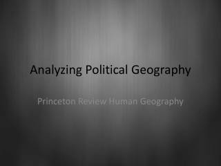Analyzing Political Geography