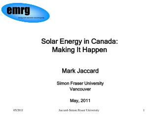 Solar Energy in Canada: Making It Happen