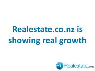 Realestate.co.nz  is showing real growth