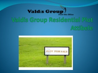 Valdis  Group Residential Plot  Attibele