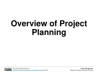 Overview of Project Planning