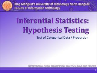 Inferential Statistics: Hypothesis Testing