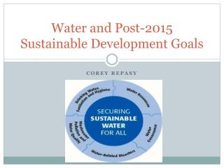 Water and Post-2015 Sustainable Development Goals